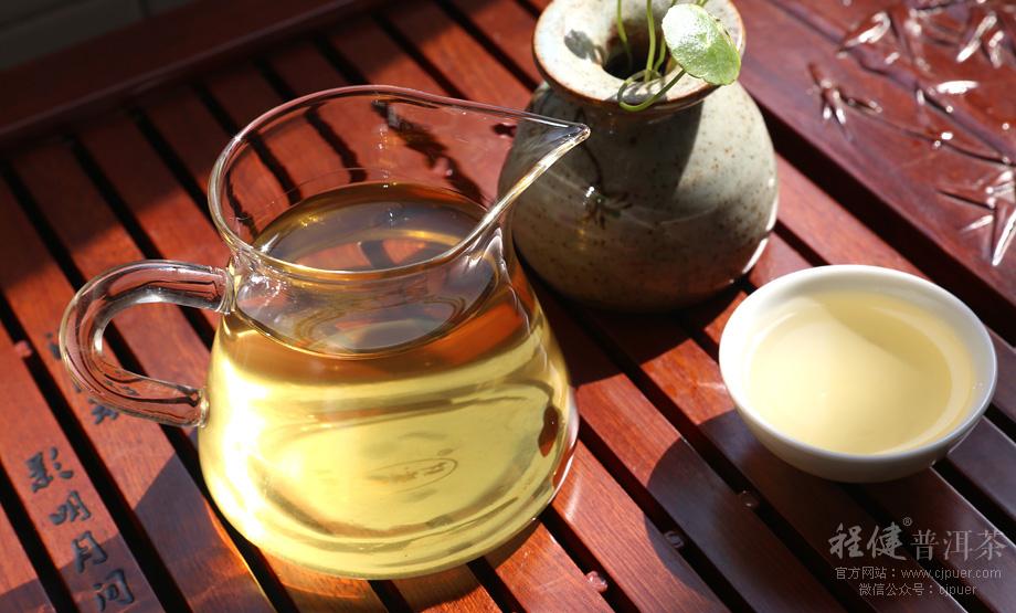 忙肺普洱茶茶汤